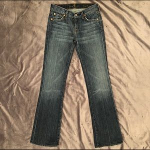 7 For All Mankind size 24 long bootcut jeans denim